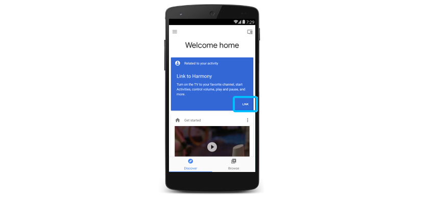 Action Harmony sur Google Home