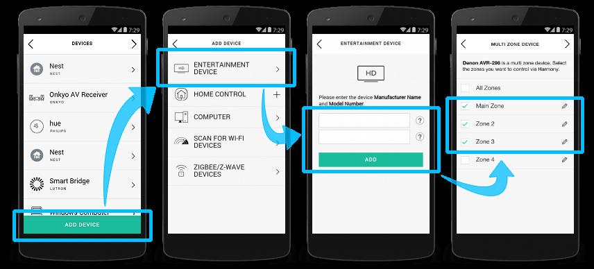Harmony-App und Gerät